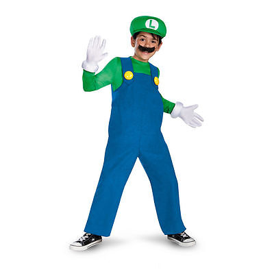 LUIGI WORLD OF NINTENDO SUPER MARIO CHILD COSTUME Halloween Cosplay B17