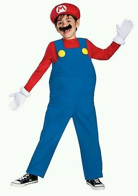 MARIO WORLD OF NINTENDO SUPER MARIO CHILD COSTUME Halloween Cosplay B17