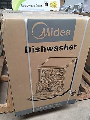 MIDEA 12 Place Setting - Dishwasher - Stainless Steel Finish - WQP12-9260G