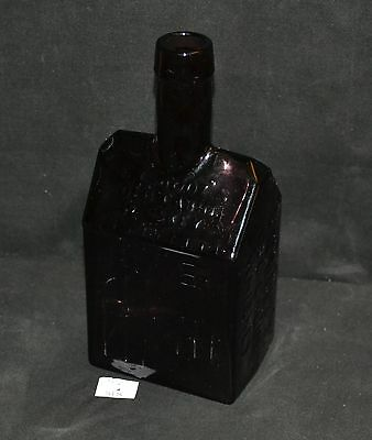 ThriftCHI ~ Amethyst Glass E.C. Booz's Old Cabin Whiskey Bottle Nuline, NJ