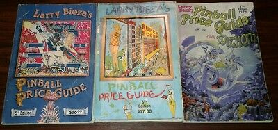 Pinball Machine Price Guide Book (lot of 3) by Larry Bieza