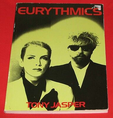 EURYTHMICS 128-page softcover book by Tony Jasper Over 150 photos RARE VG Cond.