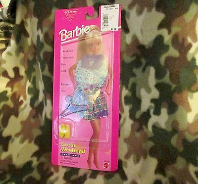 1995 Barbie Great Weekend Fashion Casual Skirt and Top Outfit & shoes New Sealed