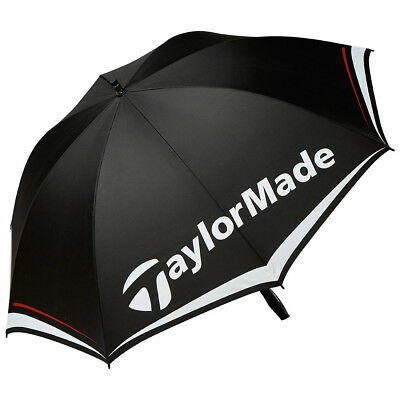 "TaylorMade 60"" Single Canopy Golf Umbrella 2017 Black/White/Gray New"