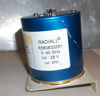 RADIALL R583833281 RF Microwave Switch ATTENUATORS 0-40 GHZ 28 volt