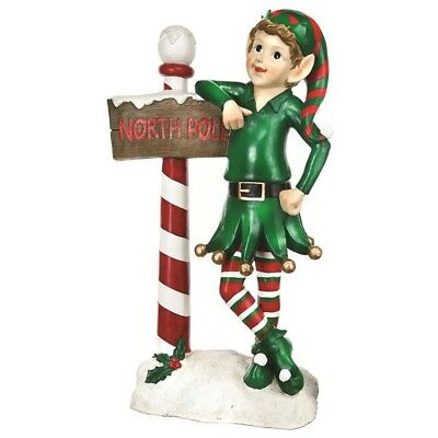 Indoor / Outdoor Elf with NorthPole Sign - 137cm