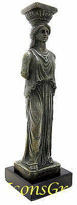 Ancient Greek Vintage Bronze Statue Of Parthenon Acropolis Kariatis Caryatid 1