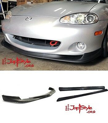 Mazda Mx5 Mk2. Gv Style Front Lip Spoiler And Feed Style Side Skirts Miata 01-05
