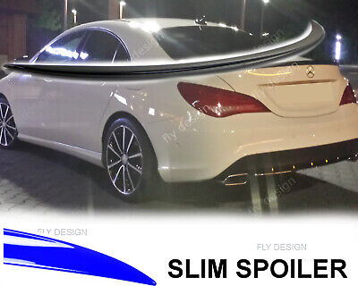 Mercedes 117 CLA AMG tuning 45 180 200 220 Spoiler SCHWARZ Lackiert Heck lippe