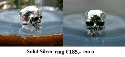 Keith Richard hand made skull ring silver 925