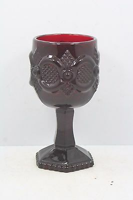"Avon Cape Cod Ruby Red Goblet #32 - 4 1/2"" High"