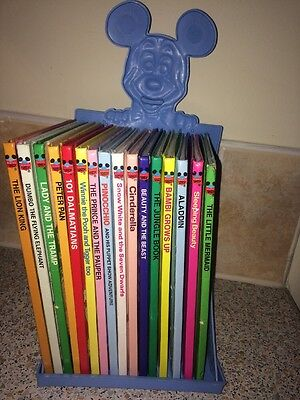 16 Disney Collection Wonderful World of Reading Books & Stand