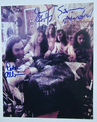 Janis Joplin Big Brother & The Holding Company Signed 8 X 10 By 4 Members Gurley