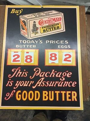 Country Maid butter sign