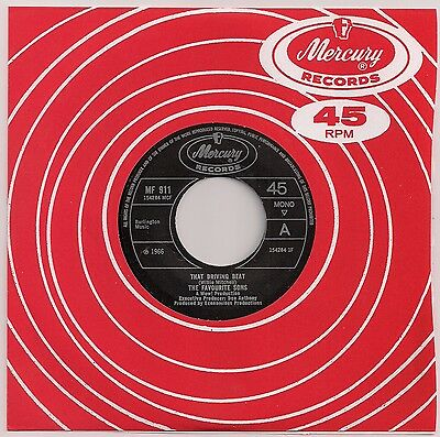 """60's NORTHERN SOUL 7"""" 45 THE FAVOURITE SONS THAT DRIVING BEAT  REISSUE"""