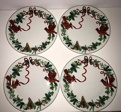 SET OF 4 ROYAL NORFOLK CARDINAL CHRISTMAS DINNER PLATES ~Excellent~  sc 1 st  PicClick & SET OF 4 ROYAL NORFOLK CARDINAL CHRISTMAS DINNER PLATES ~Excellent ...