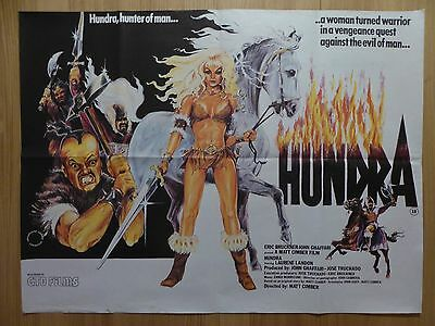 HUNDRA (1983) - original UK quad film/movie poster, action, adventure, thriller