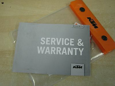 KTM  service book and WARRENTY CARD