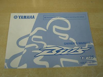 Genuine Yamaha BWS YW125  Owners Handbook Manual 2010 print riders book