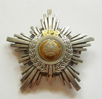 g605 Romania communist Order of the Star RPR ON RING class V FIRST TIPE RARE