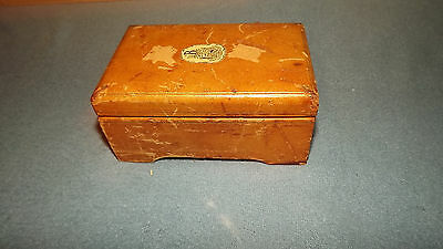 Vintage Swiss Music Box For Parts or Repair U128A