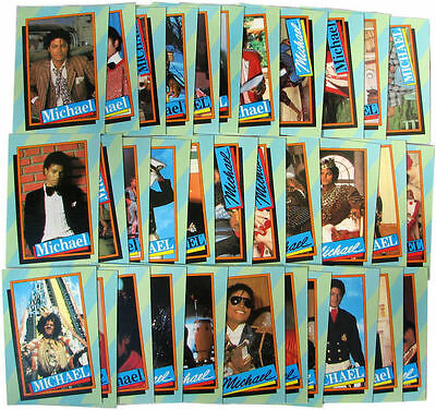 Michael Jackson Lot Cartes TOPPS Green Trading Cards 2nd series Collection 1984