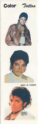 Michael Jackson Autocollant Autocollants Feuillet Sticker Stickers Sheet Set 80s