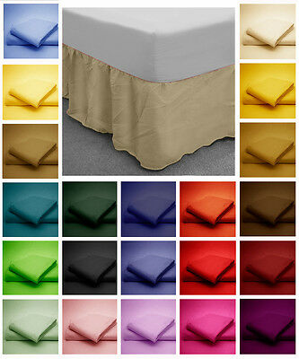 Cotton Blend BASE VALANCE BED SHEETS Non Iron Easy Care Single, Double, King