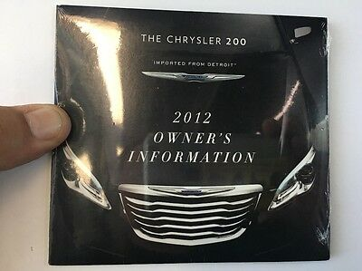 Chrysler 200 2012 Owners Manual Information DVD, New, Unopened , Free Shipping