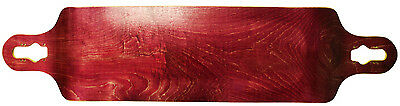 Longboard Deck Double Drop Down + Through 9.75 x 41.25 Red Concave Maple