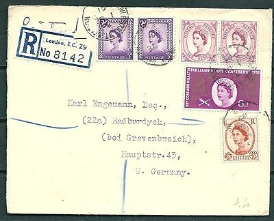 Gb 1961 Registered Cover, London To Germany, Liverpool Postmarks -Cag 210117