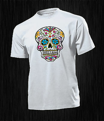 T-Shirt Teschio Mexican Messicano Fake Outfit Fashion Happiness regalo