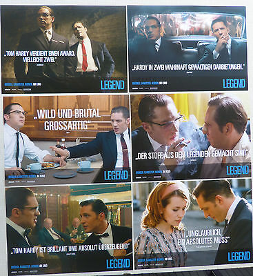 LEGEND - Lobby Cards Set of 6 + Huge Card - Tom Hardy, Emily Browning - Krays