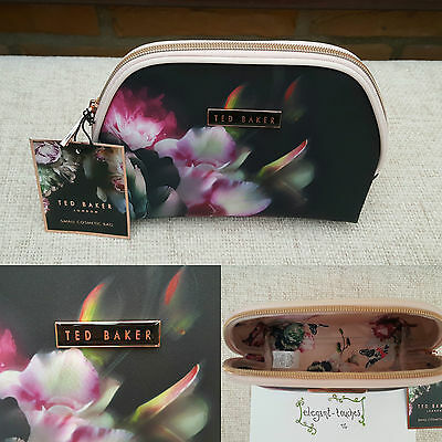Ted Baker Ladies AW Black Floral Small Make-up Cosmetic Purse Bag ❤️ Gift