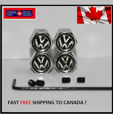 4X Volkswagen VW Golf GTI R MK6 MK5 MK7 JETTA Anti Theft Wheel Tire Valve Caps