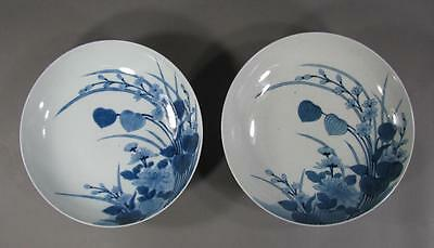 Two ANTIQUE JAPANESE Nabeshima Porcelain Bowls 19THC Chinese Lantern Plant Dec