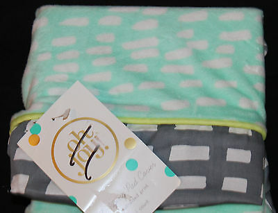 Oh Joy! Baby Mint Dash Changing Pad Cover green gray new