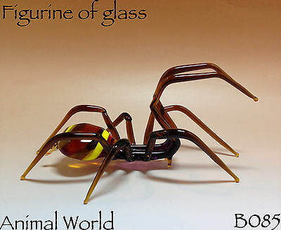Blown glass figurine Spider Souvenirs Russia Insects