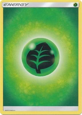 4X Grass Basic Energy -Sun and Moon Base Set- -NM- Pokemon Green Leaf