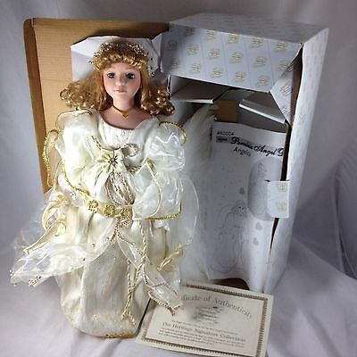 """Angelica Porcelain Angel Doll w/ Wings XL 18"""" Heritage Signature Collection 2002"""