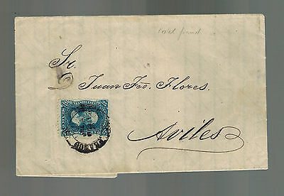 1873 Zacatecas Mexico Letter Cover  to Aviles