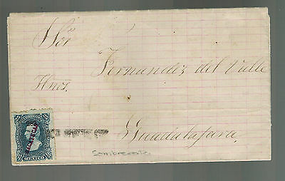 1883 Zacatecas to Guadalajara Mexico Letter Cover