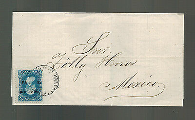 1875 Zacatecas Mexico Letter Cover  to Mexico City