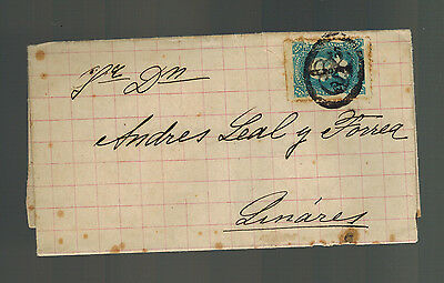 1870s to Linares Mexico Letter Cover