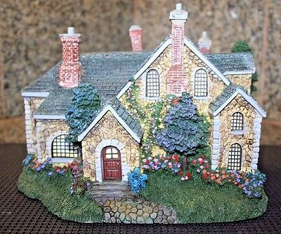 "Thomas Kinkade Hawthorne Village ""spring Gate Manor"" #a1654 Lamplight Collection"