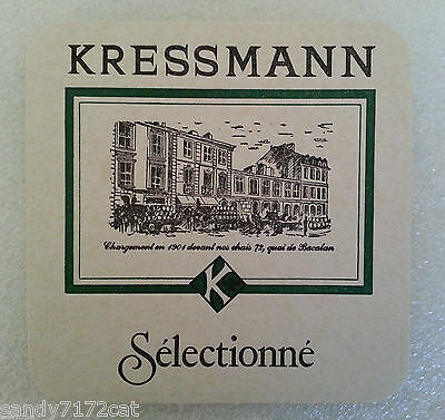 Coaster Kressmann Wine 1980s Mat Vintage Selectionne French 1 Pc