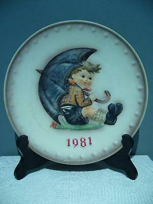 Lovely Goebel Hand Painted Annual Plate - 1981 - 19Cm - Very Good Condition