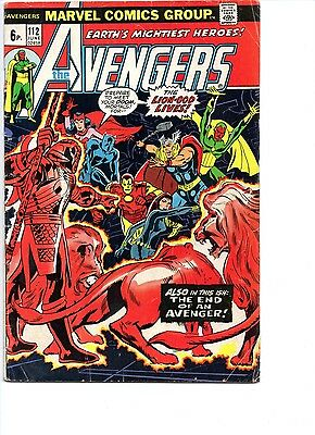 Avengers #112 Vol 1 1973 - 1st Mantis - Guardians of The Galaxy 2