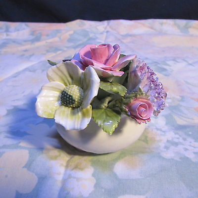 Royal Adderly Floral Bone China Made England rose impatients Nice condition #5B
