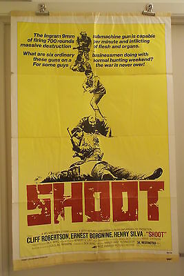 SHOOT one 1 sheet movie poster CLIFF ROBERTSON ERNEST BORGNINE 1976 original